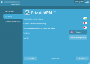 private-vpn-settings