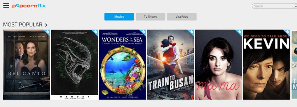 лучшие сайты для просмотра фильмов бесплатно - PopcornFlix